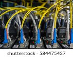 shot of server connected with... | Shutterstock . vector #584475427