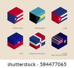 set of isometric 3d boxes with... | Shutterstock .eps vector #584477065