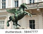 Pegasus Sculpture In The...