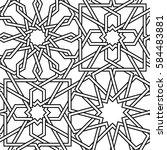 geometric interlaced pattern.... | Shutterstock .eps vector #584483881
