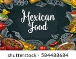 mexican traditional food... | Shutterstock .eps vector #584488684