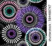 abstract floral seamless...   Shutterstock .eps vector #584488747