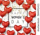 8 march happy woman s day.... | Shutterstock .eps vector #584491411