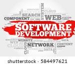 software development word cloud ... | Shutterstock . vector #584497621