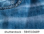 blue jeans and stitches texture.... | Shutterstock . vector #584510689