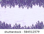 Lavender On A Wooden Floor....