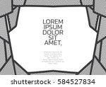 black and white line frame... | Shutterstock .eps vector #584527834