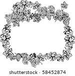 creative grape frame | Shutterstock .eps vector #58452874
