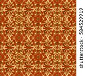 brown and golden vintage...   Shutterstock . vector #584529919