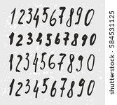 vector set of ink numbers.... | Shutterstock .eps vector #584531125