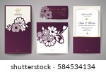 set of wedding floral... | Shutterstock .eps vector #584534134