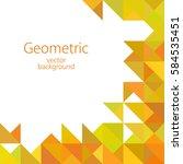 orange white abstract geometric ... | Shutterstock .eps vector #584535451