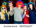 young peoples birthday party | Shutterstock . vector #584536207