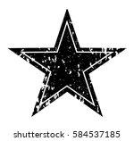 vector grunge star.distressed... | Shutterstock .eps vector #584537185