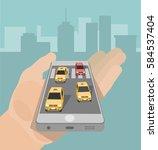 vector illustration. car taxi...   Shutterstock .eps vector #584537404