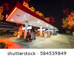 Gas Station Burned Out At Nigh...