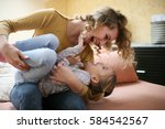 mother and daughter spending... | Shutterstock . vector #584542567