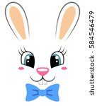 Cute Bunny With Butterfly Tie....