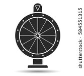 wheel of fortune  icon. vector... | Shutterstock .eps vector #584551315