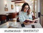 young  beautiful woman in... | Shutterstock . vector #584554717
