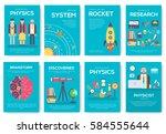 technical minds brochure cards... | Shutterstock .eps vector #584555644