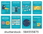 astrology house brochure cards... | Shutterstock .eps vector #584555875