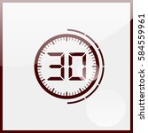 electronic timer 30 seconds | Shutterstock .eps vector #584559961