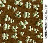 saint patrick's day fabric... | Shutterstock . vector #584567749
