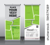roll up brochure flyer banner...   Shutterstock .eps vector #584579389