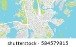 helsinki  finland city map | Shutterstock .eps vector #584579815