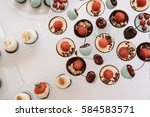 candy bar. delicious sweet... | Shutterstock . vector #584583571