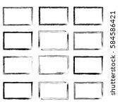 grunge frame.  | Shutterstock .eps vector #584586421