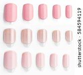 set of multi colored false... | Shutterstock . vector #584594119