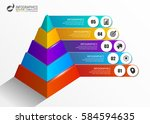 infographics template. colorful ... | Shutterstock .eps vector #584594635