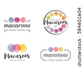 set of vector logo macaron for... | Shutterstock .eps vector #584601604
