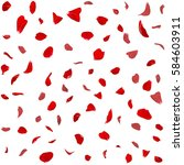 Stock photo seamless texture of red rose petals isolated background 584603911
