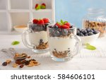 Yogurt Parfait With Granola An...