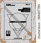 urban t shirt graphics | Shutterstock .eps vector #584607784