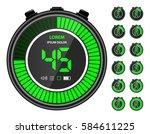 green electronic digital... | Shutterstock .eps vector #584611225