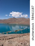 blue lake with surrounding... | Shutterstock . vector #58461187