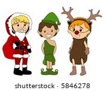 kids in christmas costumes  ... | Shutterstock .eps vector #5846278