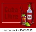 cuba libre drink | Shutterstock .eps vector #584633239