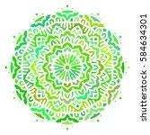multicolor mandala. vector... | Shutterstock .eps vector #584634301
