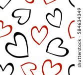 seamless raster pattern with... | Shutterstock . vector #584634349