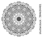 mandala. vector ethnic oriental ...   Shutterstock .eps vector #584634481