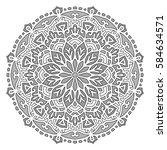 mandala. vector ethnic oriental ... | Shutterstock .eps vector #584634571