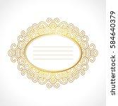vector gold baroque vintage... | Shutterstock .eps vector #584640379