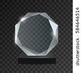 glass transparent trophy award.   Shutterstock .eps vector #584646514