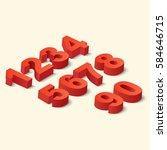 numbers set. vector... | Shutterstock .eps vector #584646715