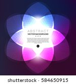 abstract vector background.... | Shutterstock .eps vector #584650915